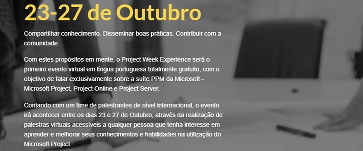 Project Week Experience, 23-27 de Outubro