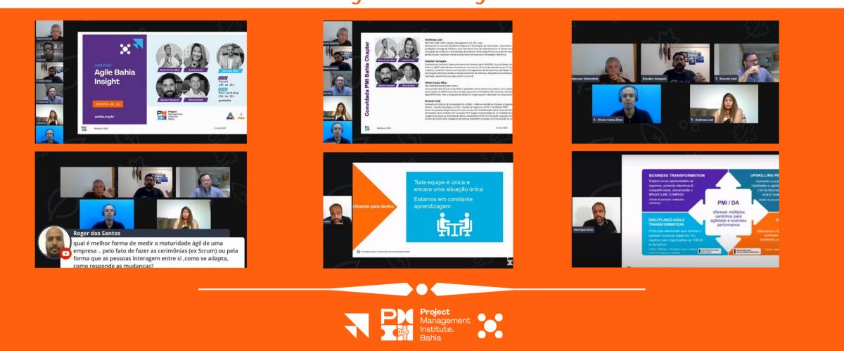 Nos dias 21 e 23 JUL o PMI Bahia Chapter levou ao ar, em seu canal no youtube, o Agile Bahia Insight
