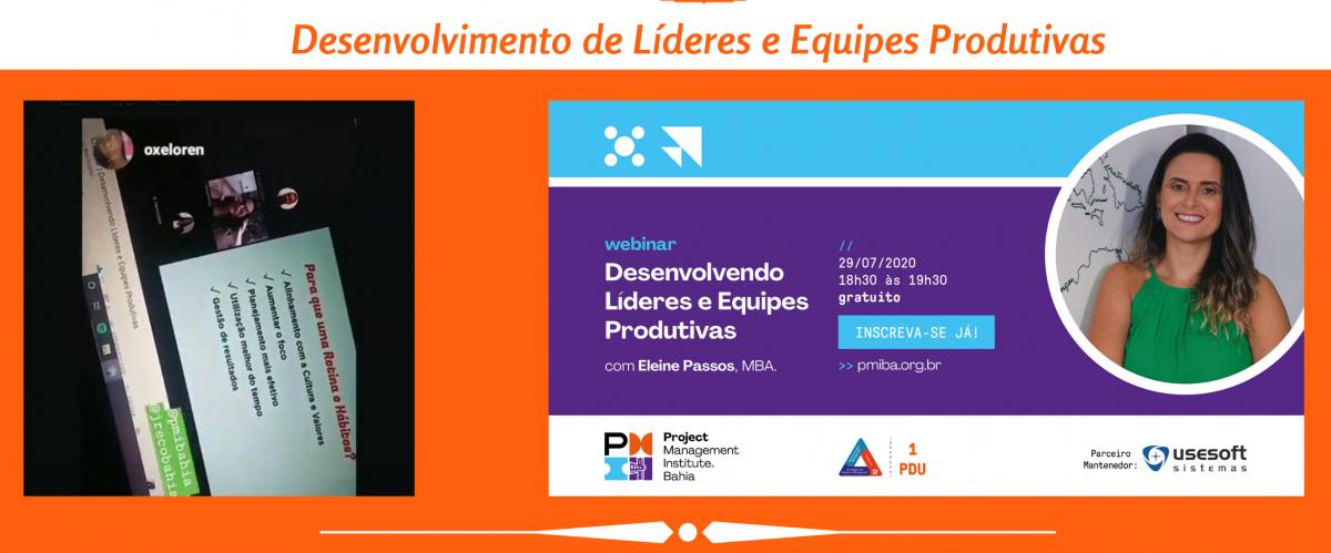 Webinar - Desenvolvimento de Líderes e Equipes Produtivas