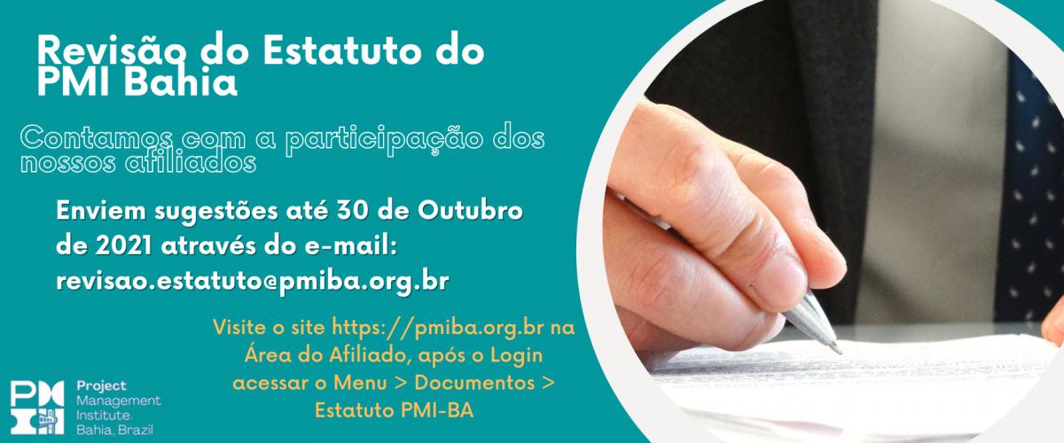 Revisão do Estatuto do PMI Bahia