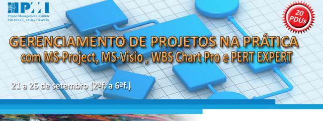 Curso GP na Prática com MS-Project, Visio, WBS Chart Pro e PERT Chart EXPERT