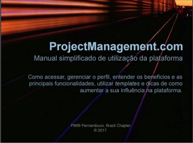 PMI-PE lança o manual simplificado de utilização da plataforma ProjectManagement.com