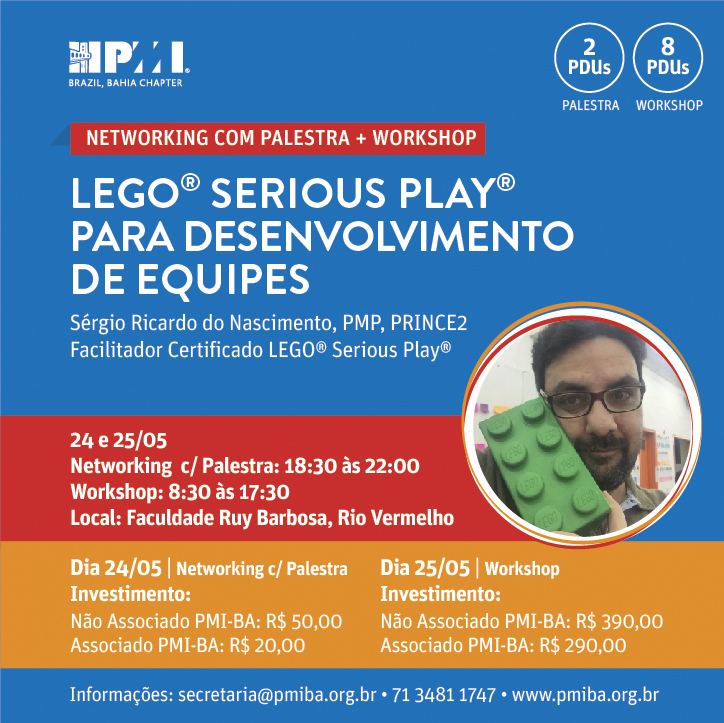 Networking com Palestra + Workshop Lego Serious Play